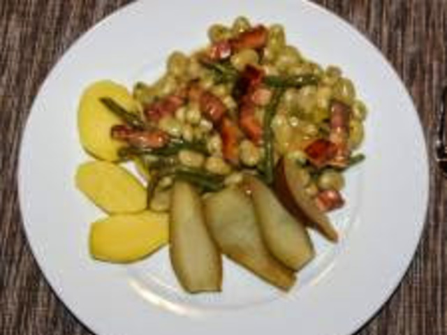Birnen, Bohnen und Speck