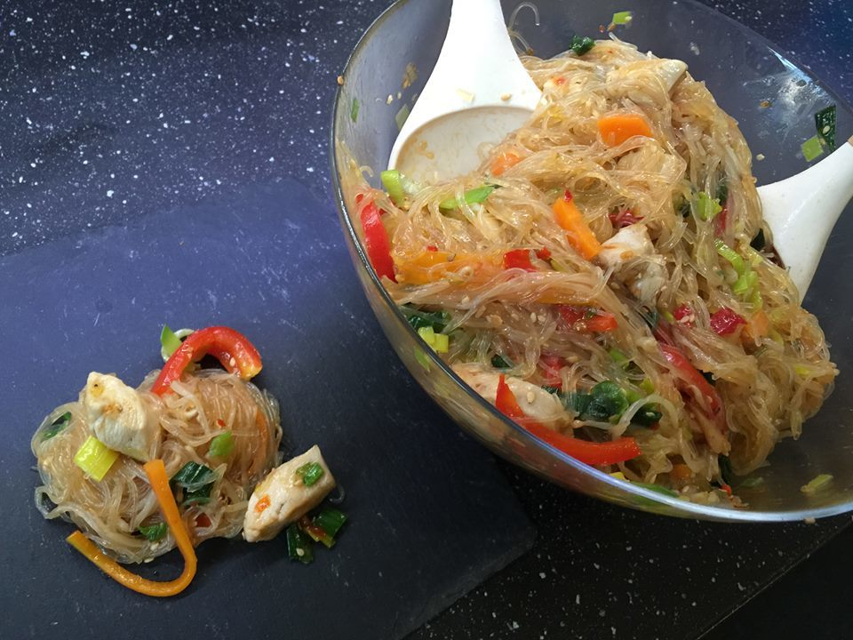 Glasnudelsalat Hot & Sweet ein perfekter Sommersalat