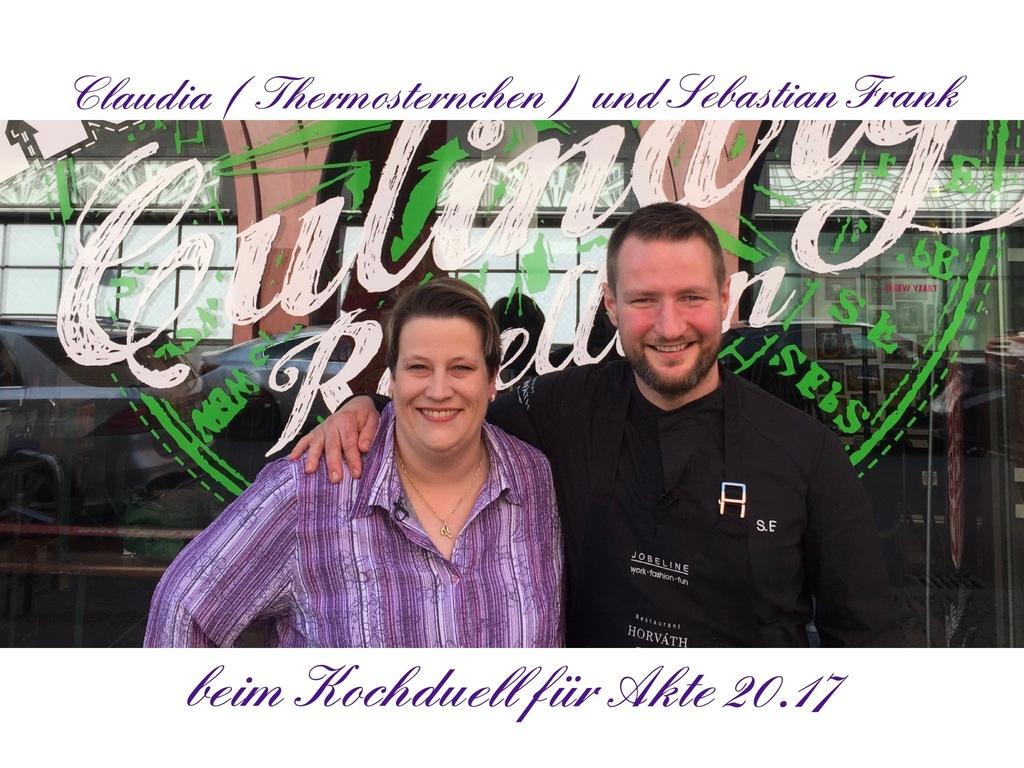 Akte 20.17 Thermomix gegen Sterne-Koch / Claudia ( Thermosternchen® ) gegen Sebastian Frank (Küchenchef im Berliner Restaurant Horváth)