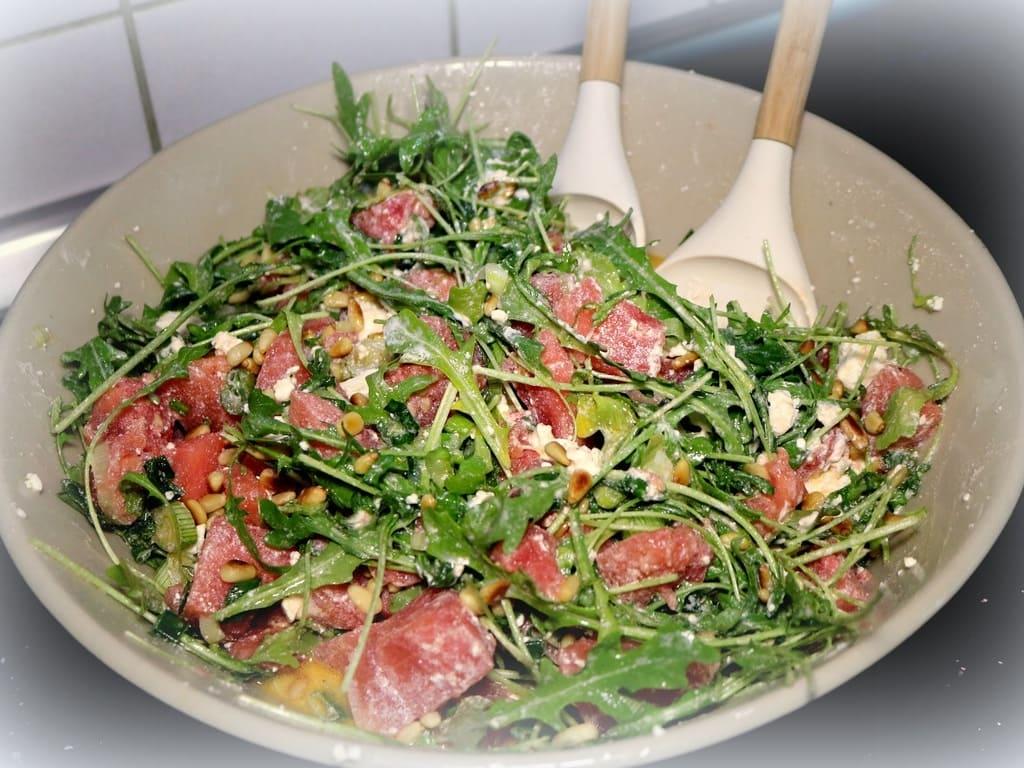 Sommerlicher Wassermelonensalat ( Aldi Rezept )
