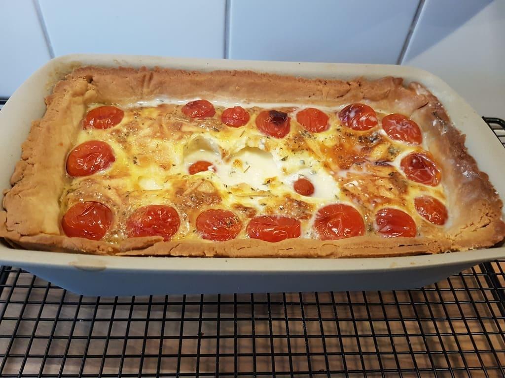 Mozzarella Tomaten Quiche im Zauberkasten