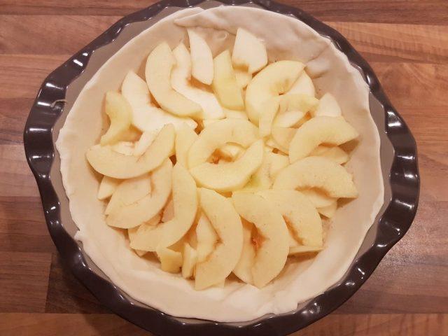 Apfel Pie mit Pudding aus der Pieform von PamperedChef