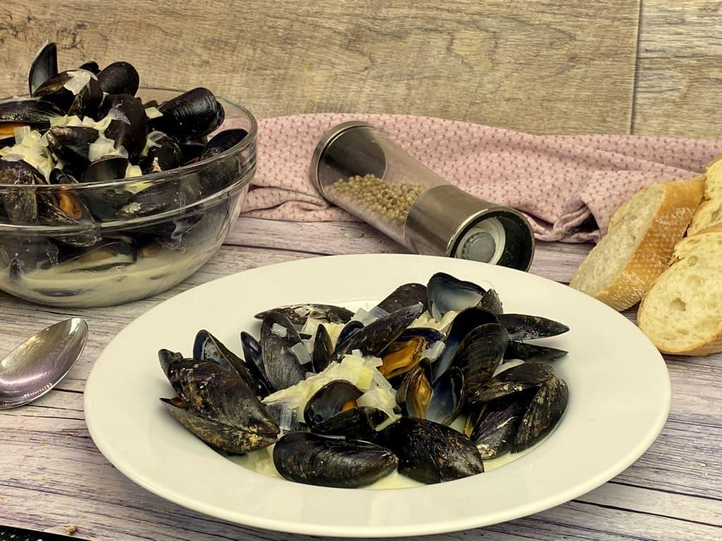 Miesmuscheln in Weißweinsoße die kein Italiener besser hinbekommt