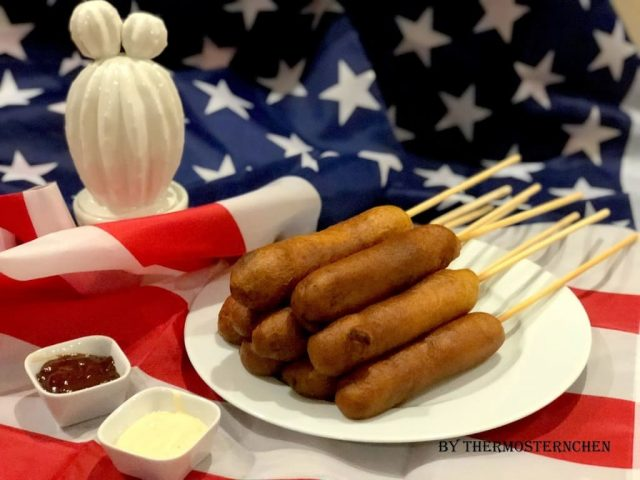 Amerikanische Corndogs