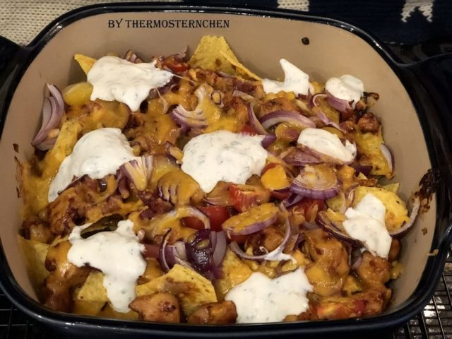 BBQ Chicken Nachos Auflauf