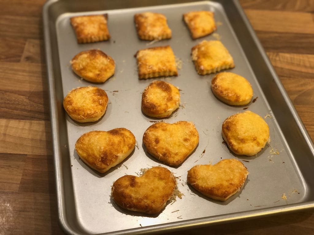 Parmesan Snacks mit dem Keks-Ausstechroller von PamperedChef®