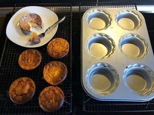 Apfel-Käse-Teilchen aus dem Mini-Pieform-Set und Mini-Gugelhupf