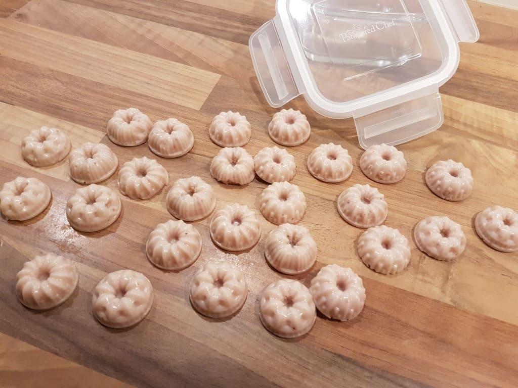Fruit Gums aus der Schokoladenform ( Mini Gugelhupf Silikonform )