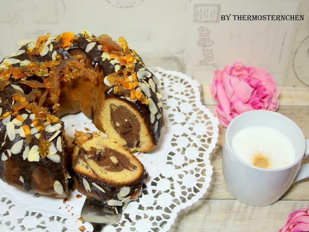 Kaffee - Haselnuss - Marmorkuchen aus der Kranzform von PC