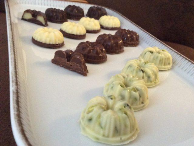 Pralinen - Vierfalt aus der Schokoladenform von Pampered Chef