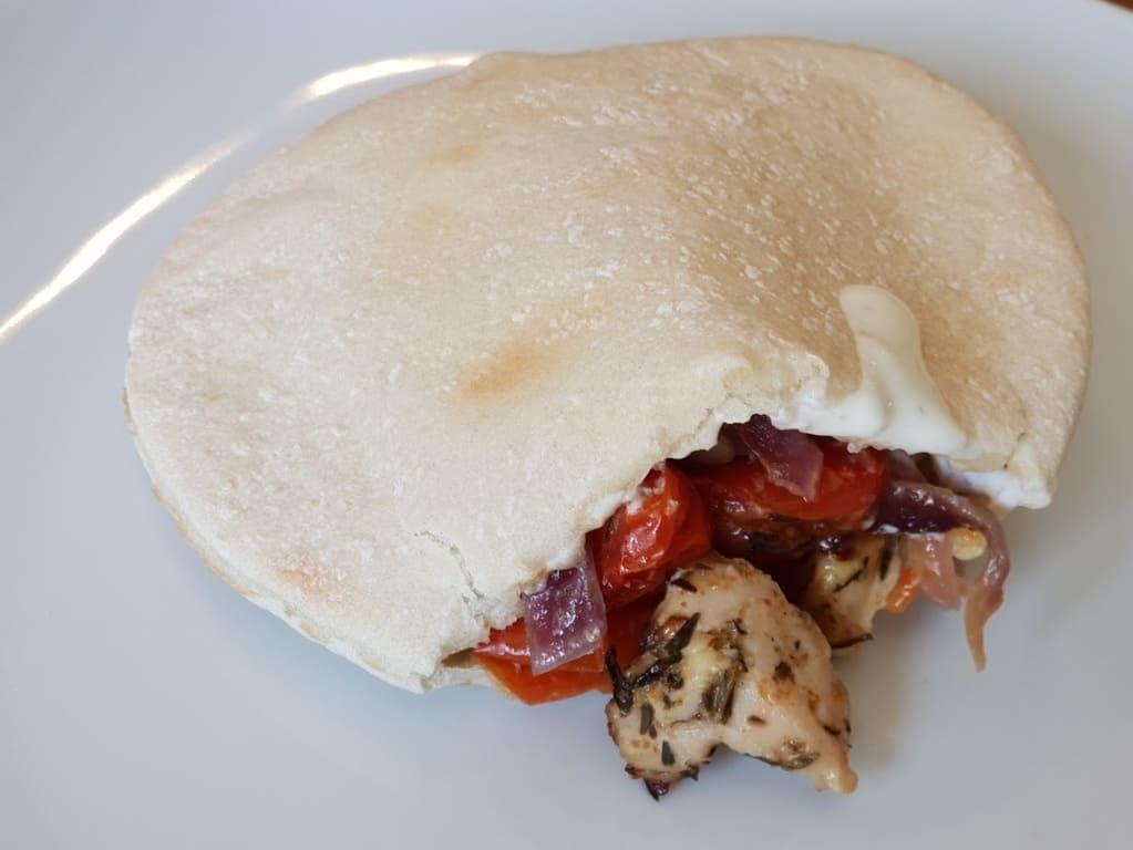 Chicken Souvlaki vom Backblech mittel