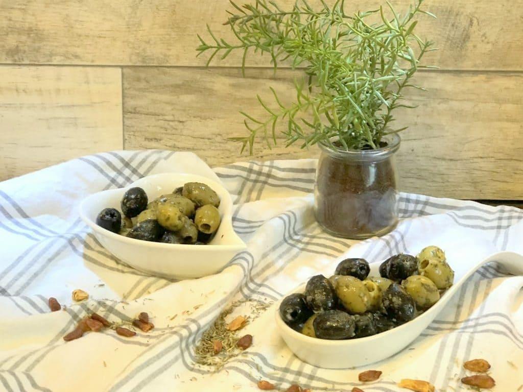 Gewürz-Oliven