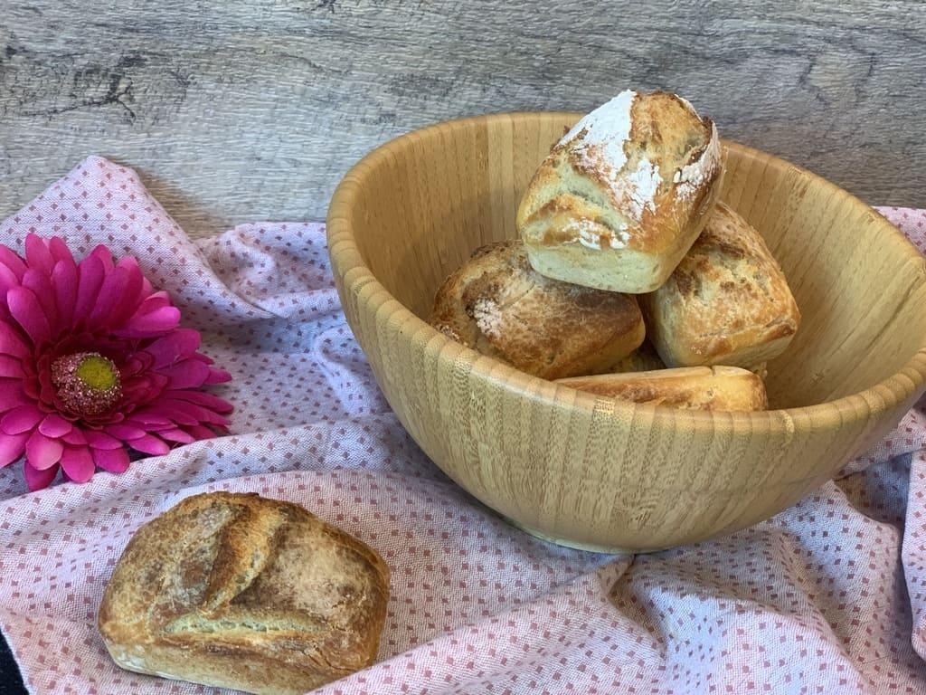 Baguette magique Brötchen aus der neuen Mini-Kuchenform,