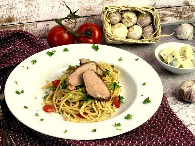 Spaghetti in Gorgonzola Sauce