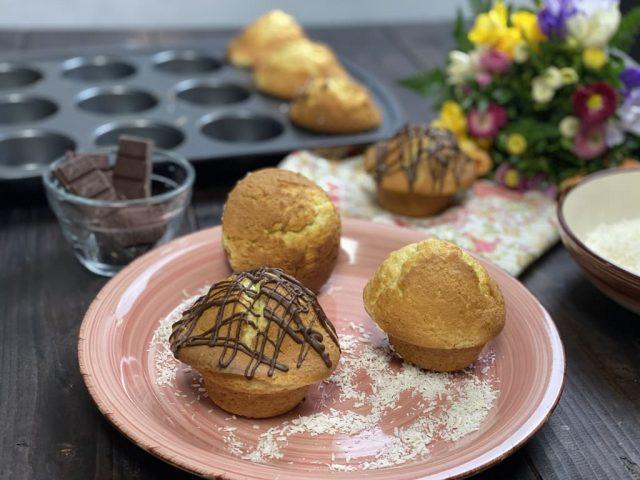 Kokos Muffins mit Mascarpone