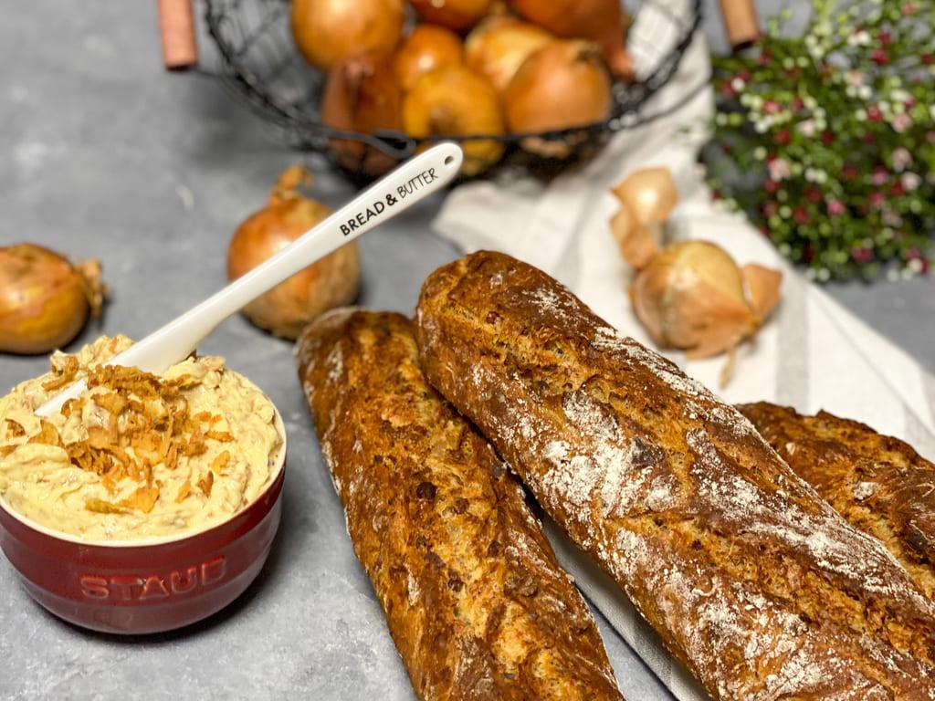 Röstzwiebel-Senf-Butter