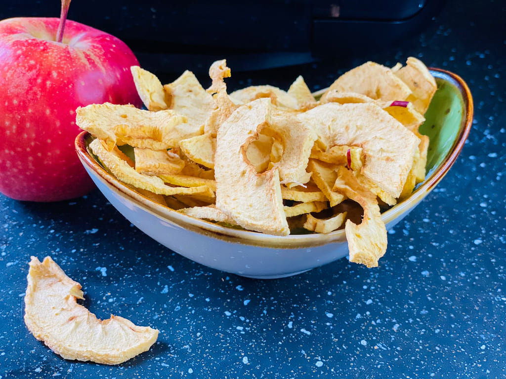 Apfelchips / Apfelringe - Rezept für den Deluxe Air Fryer -
